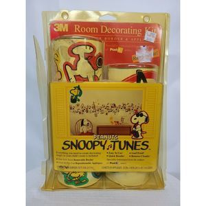 90s Peanuts Snoopy Pre Stick Wall Boarder